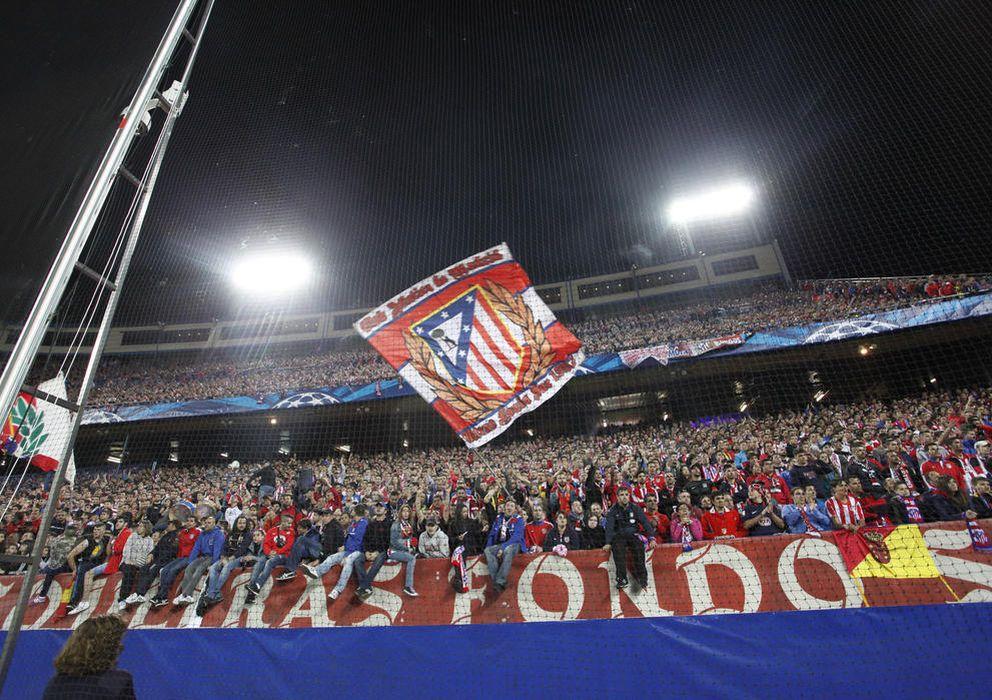 Foto: Imagen del fondo sur del estadio Vicente Calderón (Enrique Villarino)