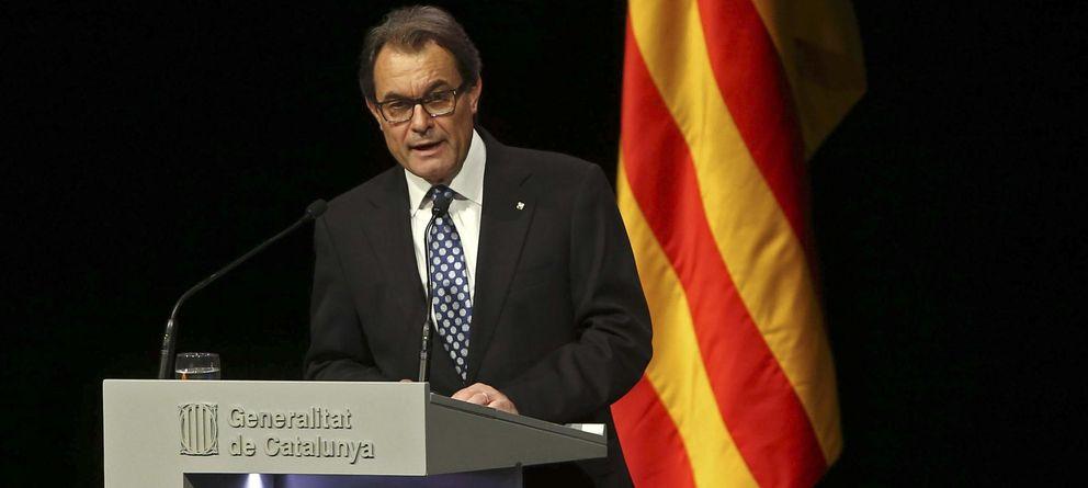 Foto: El presidente catalán y líder de CiU, Artur Mas, durante su conferencia. (EFE)