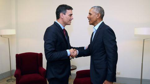 Sánchez mantiene un encuentro exprés y discreto con Obama en Madrid