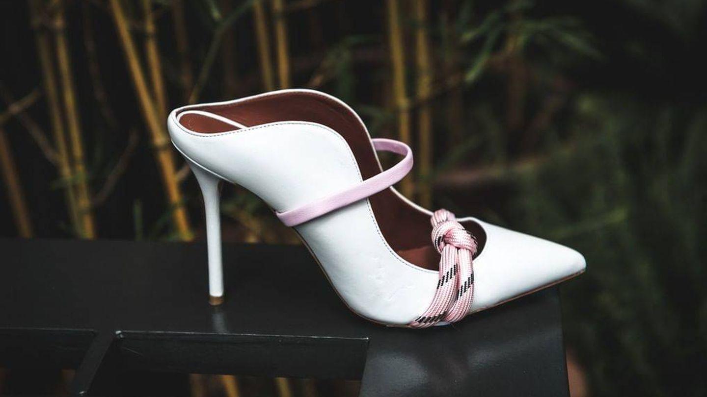 El modelo de zapatos escogido por Rania. (Malone Mouliers)