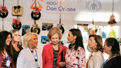 La reina Letizia y doña Sofía y su discreta visita a Don Orione, los 'jefes' de Urdangarin