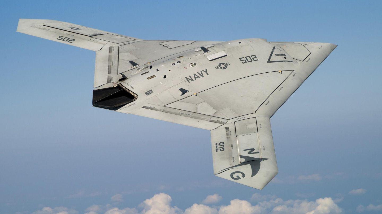 El X-47B en pleno vuelo. (Northrop Gruman)