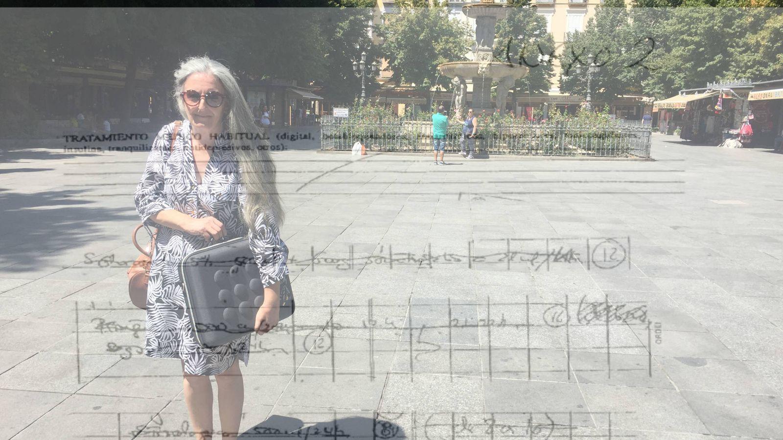 Foto: Pilar Ocón, fotografiada recientemente en Granada. (Montaje: EC)