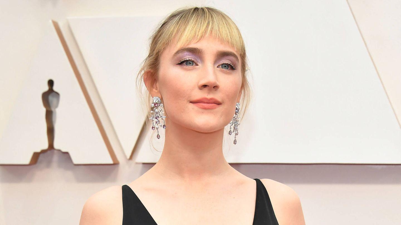 Saoirse Ronan, con su choppy bang en la pasada edición de los Oscar. (Getty)