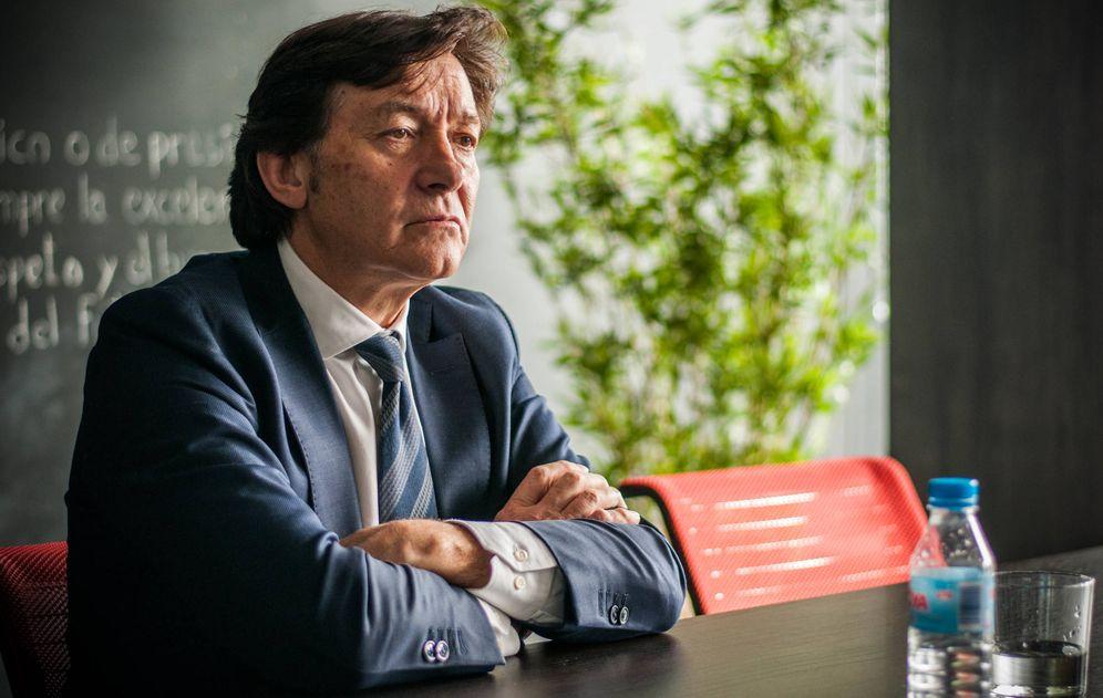 Foto: José Ramón Lete, presidente del Consejo Superior de Deportes, durante su visita a la redacción de El Confidencial.