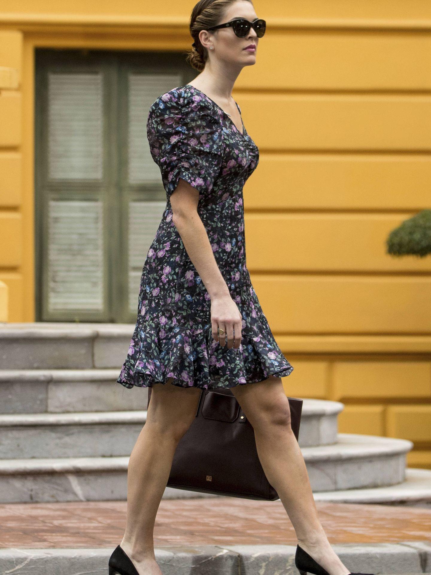 Hope Hicks a su salida del palacio presidencial de Vietnam. (Gtres)