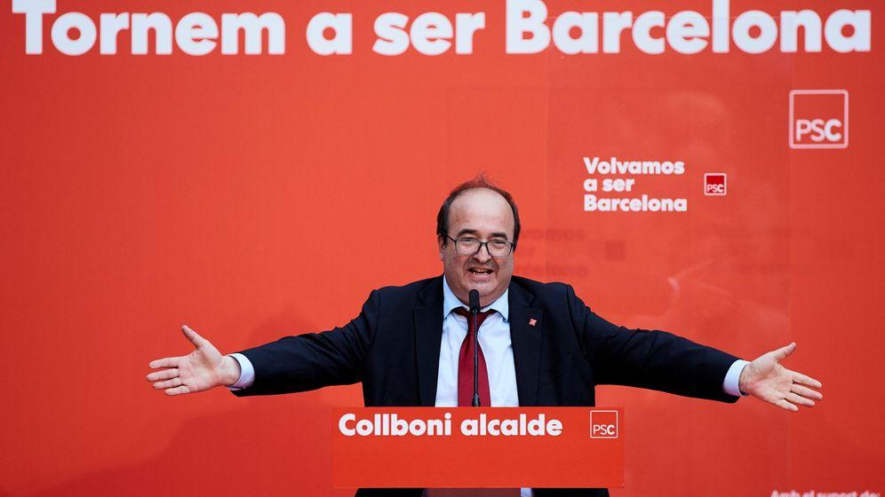 Foto: Miquel Iceta en el inicio de campaña del PSC en Barcelona. (EFE)