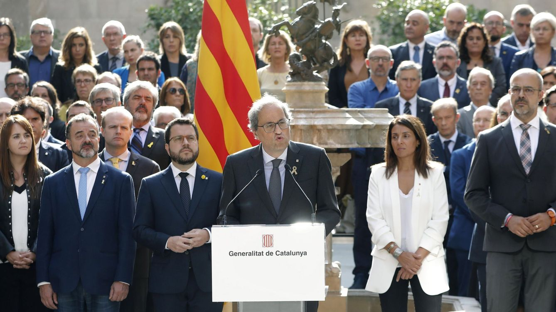 Foto: El presidente de la Generalitat, Quim Torra (c). (EFE)