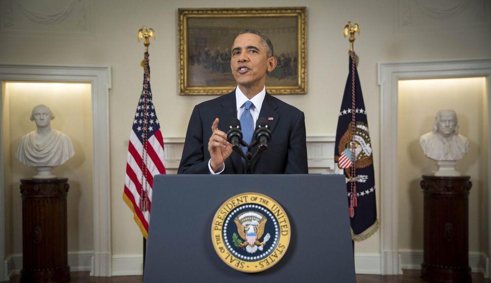Foto: El presidente estadounidense Barack Obama se dirige a la nación desde la Casa Blanca (Efe).