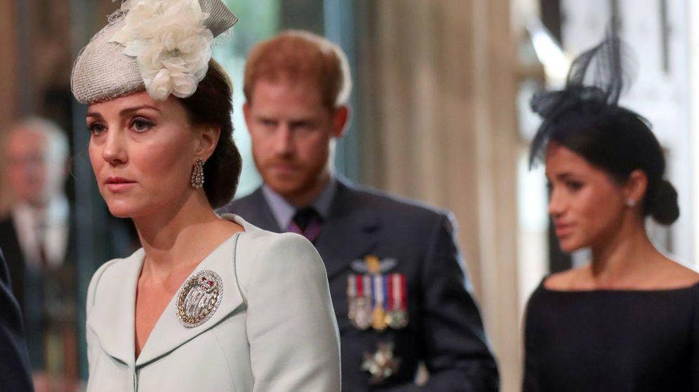 Foto:  Kate Middleton y en segundo plano sus cuñados. (Getty)