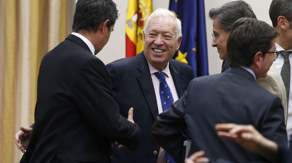 Foto: El exministro de Exteriores José Manuel García-Margallo, tras ser elegido presidente de la comisión mixta de Seguridad Nacional. (EFE)