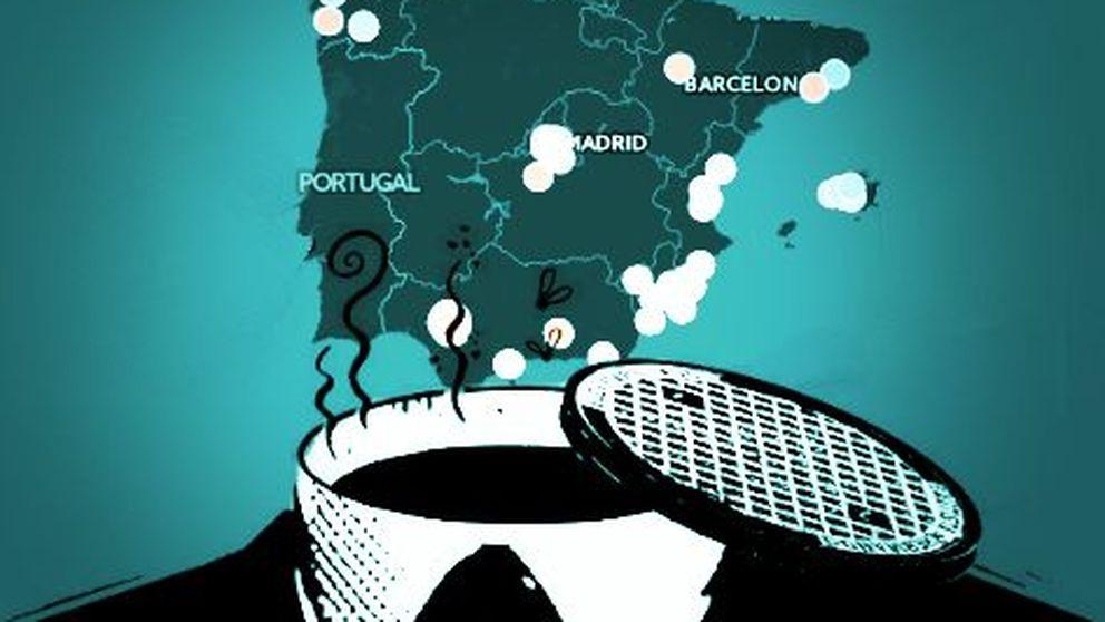 Así se reparten los principales casos de corrupción política en España