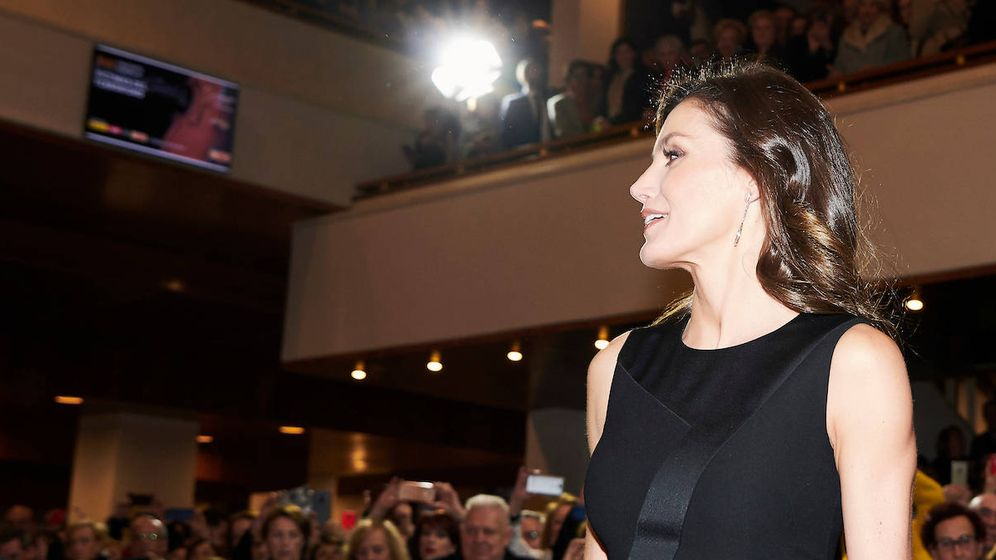 Foto: La reina Letizia en el acto. (Limited Pictures)