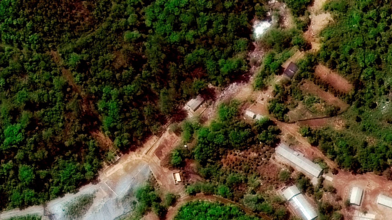 Imágenes de satélite del centro de pruebas de Punggye-ri, en la provincia de North Hamgyong. (Reuters)