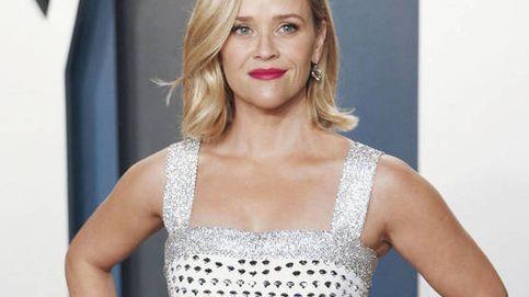 Reese Witherspoon y su calco humano en una idílica estampa navideña