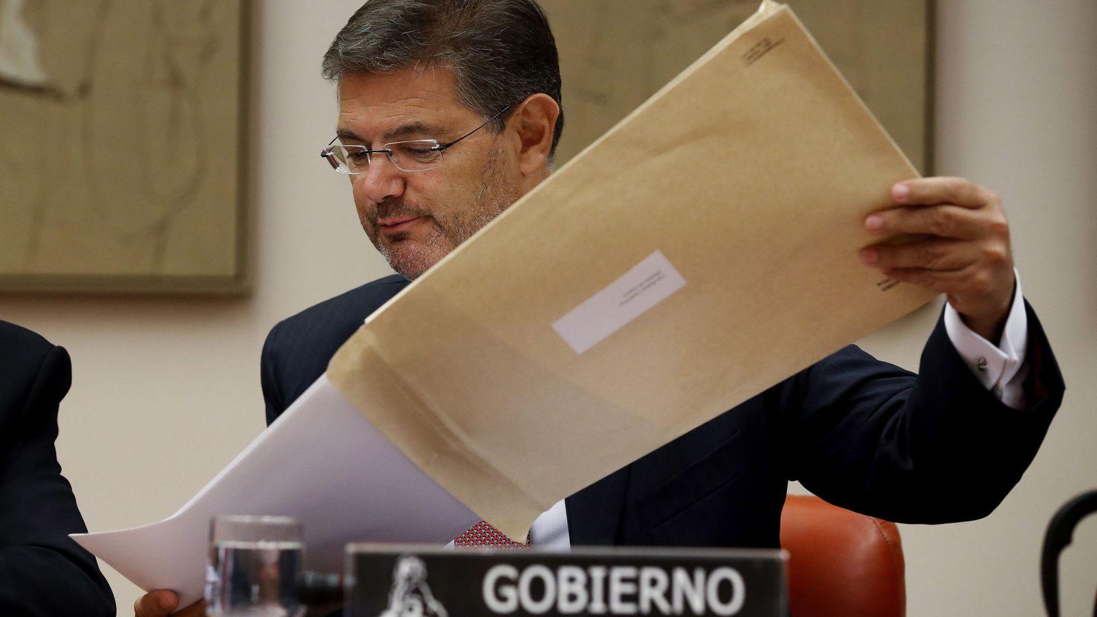 Foto: Rafael Catalá comparece en el Congreso de los Diputados por LexNet (EFE)
