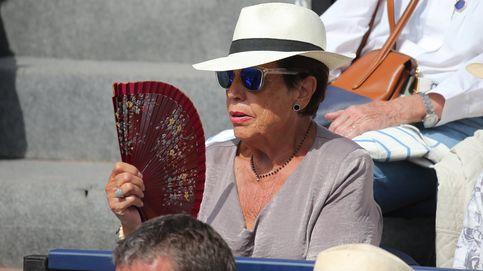 Marisa Vicario, animada y sonriente en un partido de Nadal en el Trofeo Godó