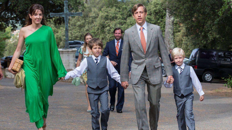 Tessy y Louis, con sus hijos, en el bautizo de la princesa Amalia. (Getty)