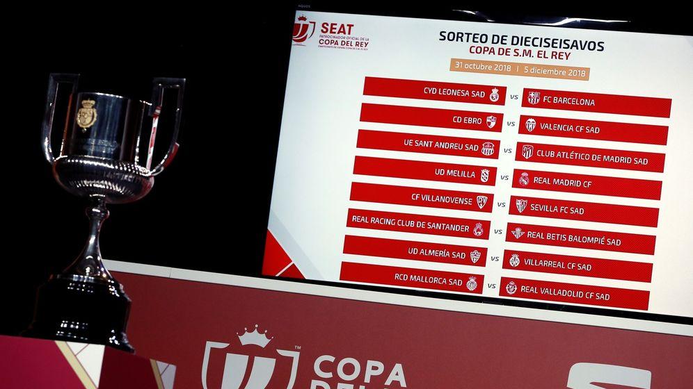 Foto: Panel con los emparejamientos de dieciseisavos en la Copa del Rey. (EFE)
