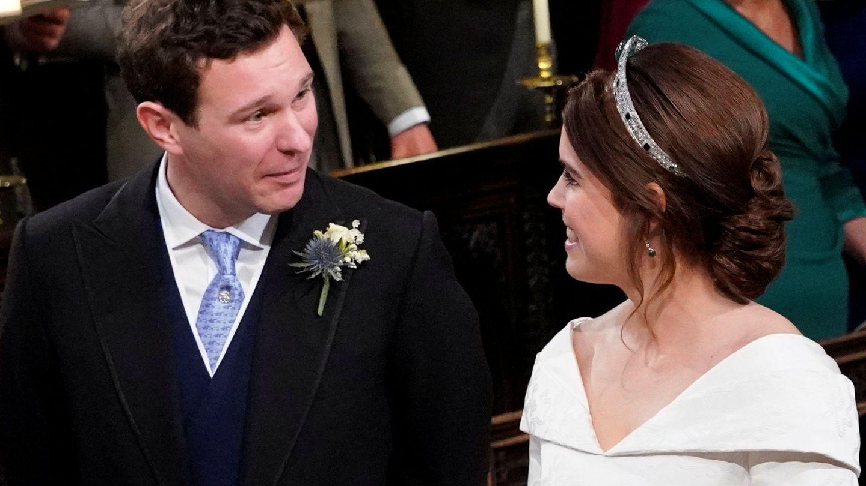 Eugenia de York, con su marido. (Reuters)