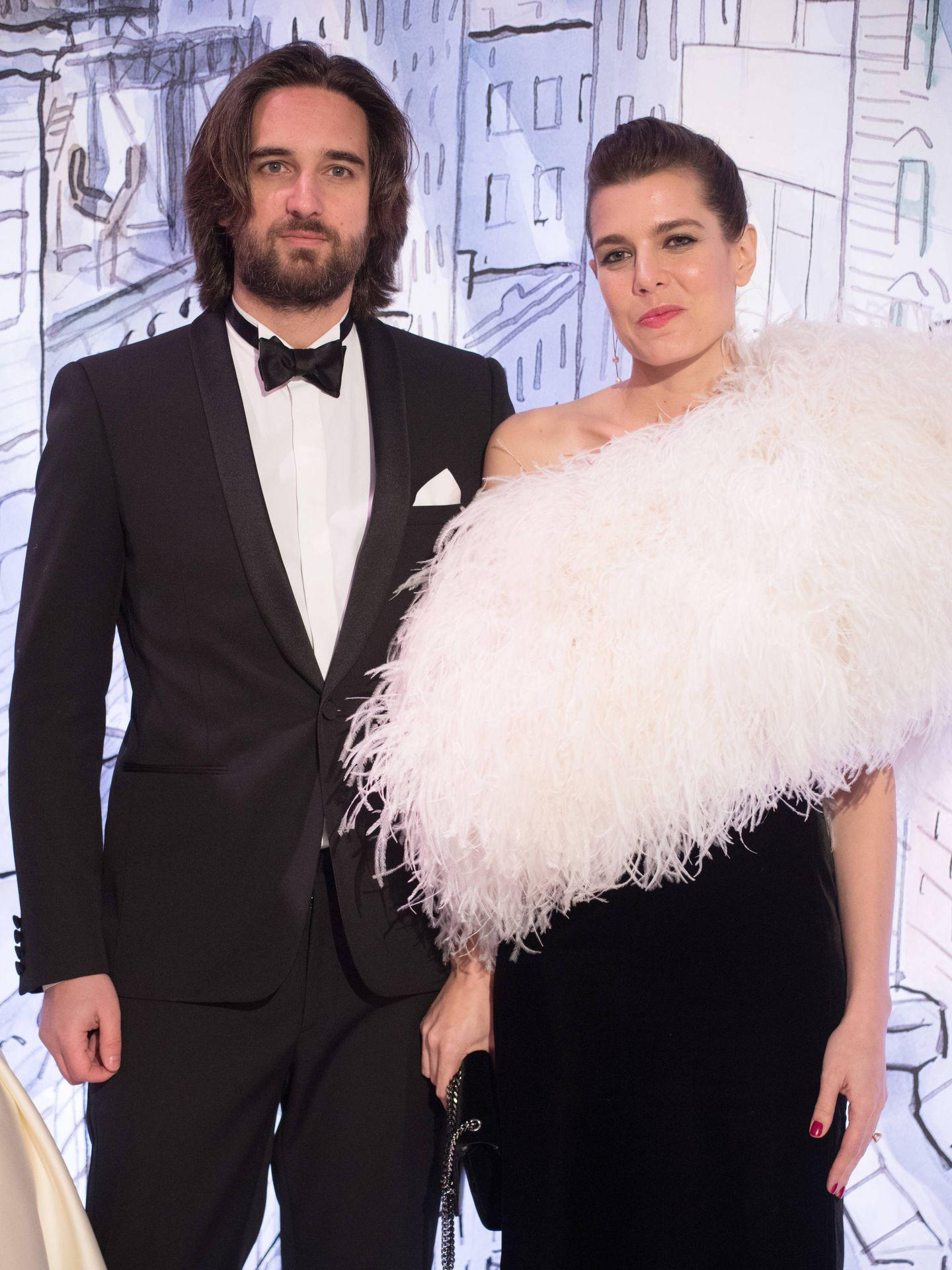 Carlota Casiraghi y Dimitri Rassam en el Baile de la Rosa de 2018. (Getty)