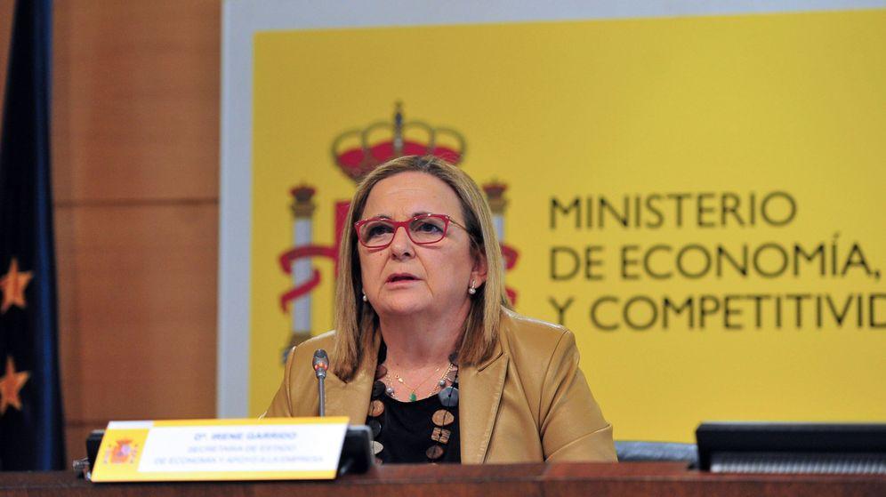 Foto: La secretaria de Estado de Economía y Apoyo a la Empresa, Irene Garrido, de la que depende orgánicamente el Sepblac. (EFE)