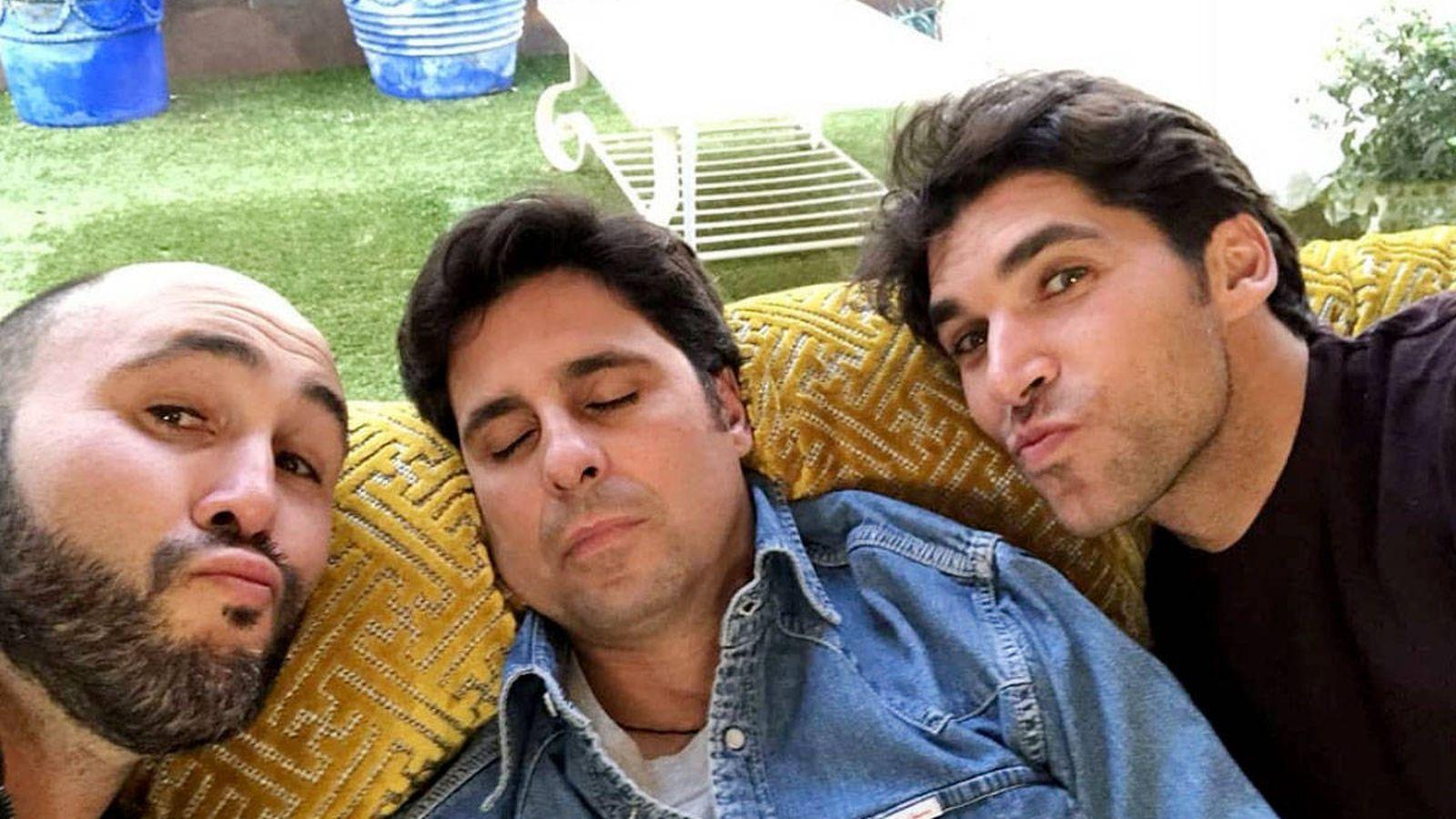 Foto: Los hermanos Rivera (Kiko, Fran y Cayetano), en una imagen de Instagram.