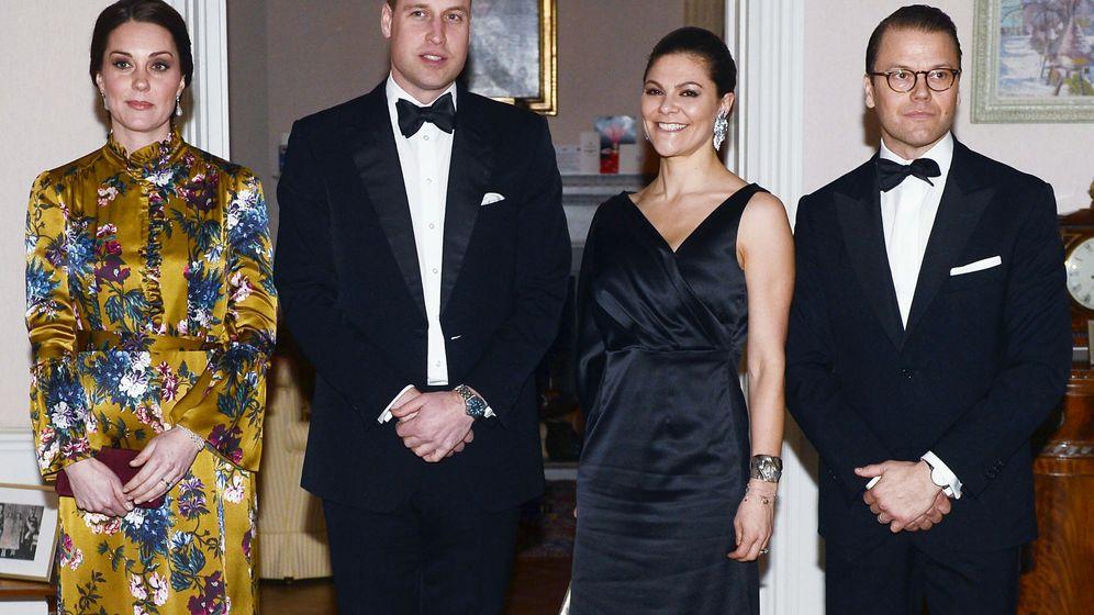Foto: Los duques de Cambridge junto a los herederos suecos. (Reuters)