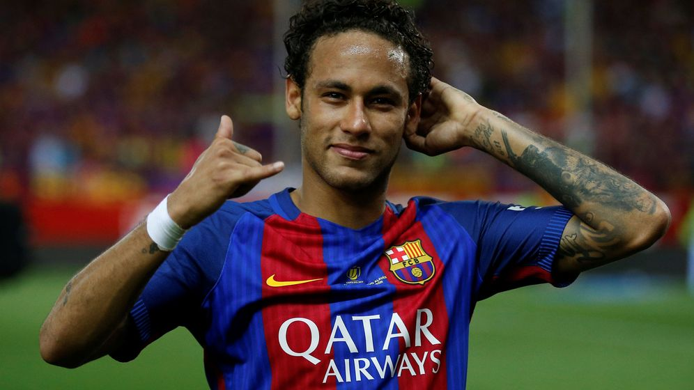 Foto: Neymar celebrando un gol en la final de Copa de 2017. (Reuters)
