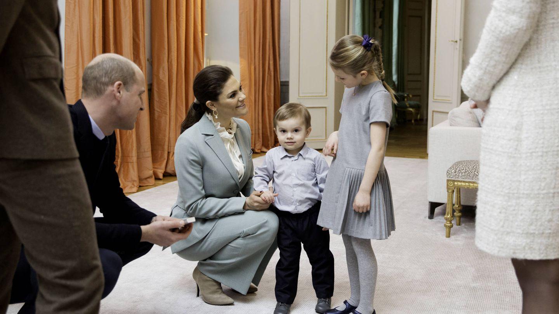 Estelle y Oscar junto a Victoria y Guillermo. (Kungahuset)