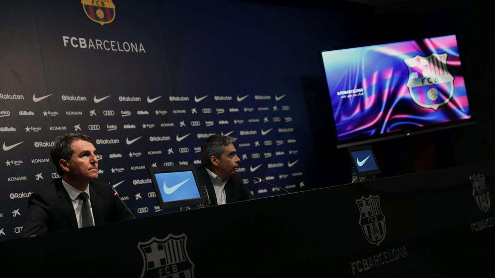 Foto: Albert Soler y Robert Fernández, durante la rueda de prensa. (EFE)
