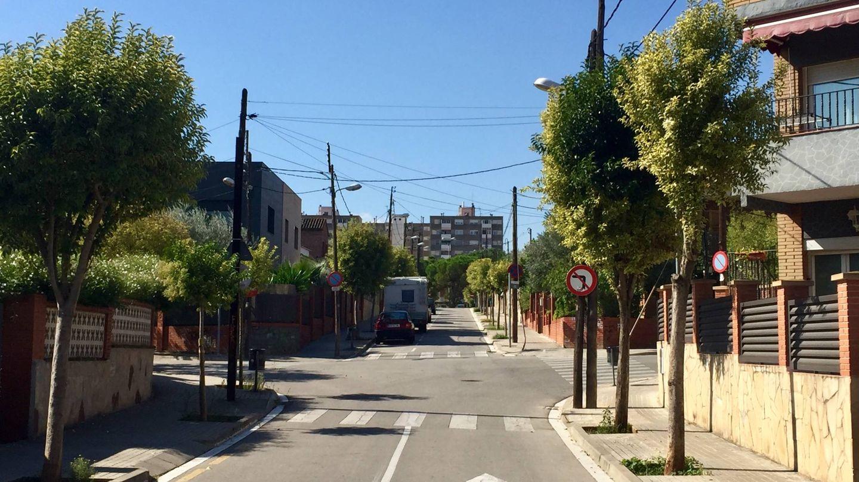 La entrada que da a la localidad de Badia, desde Barberà del Vallès, este 29 de septiembre. (J. R.)