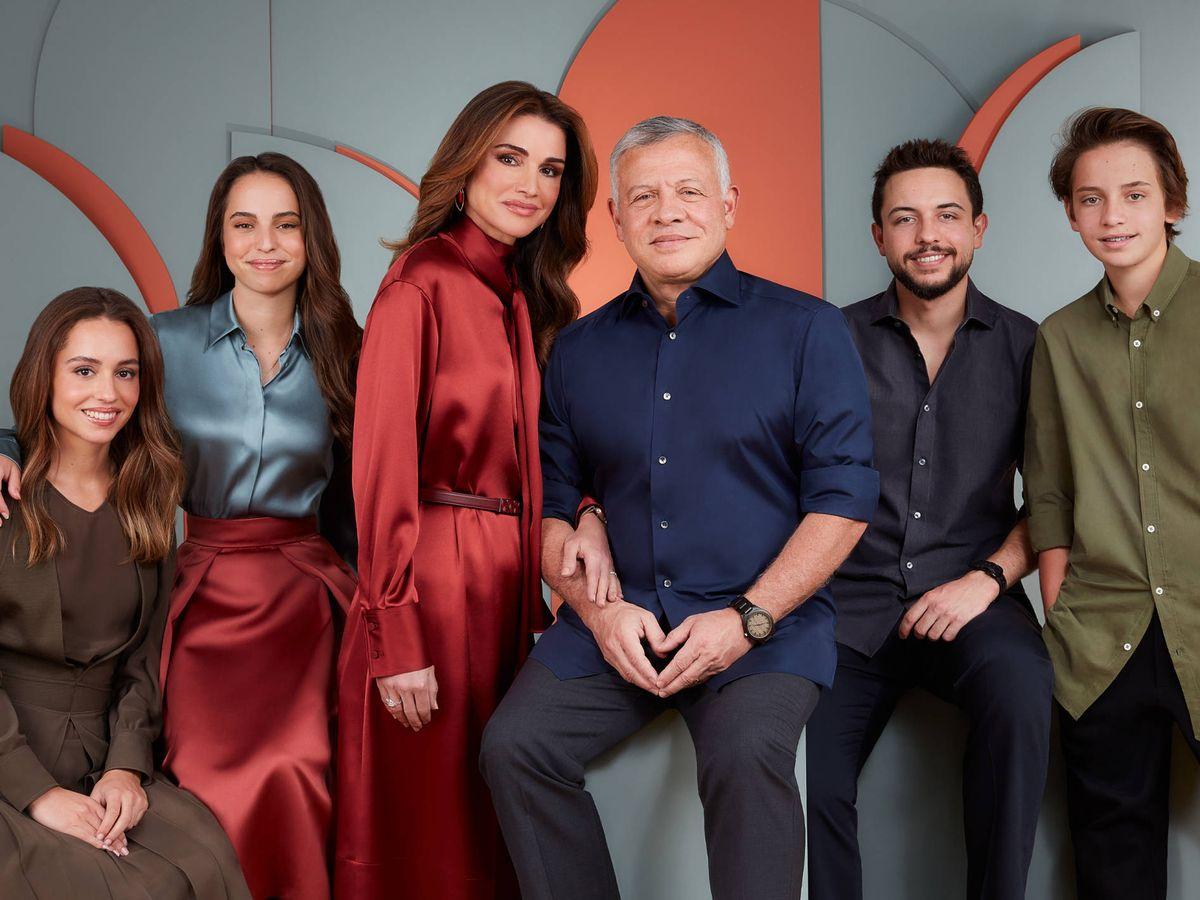 Foto: La familia real jordana, en su felicitación navideña. (Redes Sociales Queen Rania)