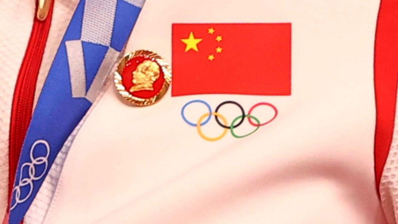 Detalle de la insignia que lucieron las ciclistas chinas. (Reuters)