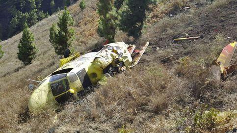 Un helicóptero contra incendios se estrella en La Palma