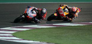Post de Márquez va a saco el día que Dovizioso no sorprendió a nadie en Qatar