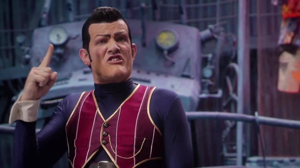 Foto: Robbie Rotten, durante un fragmento del vídeo musical 'We are number one' (Lazy Town)