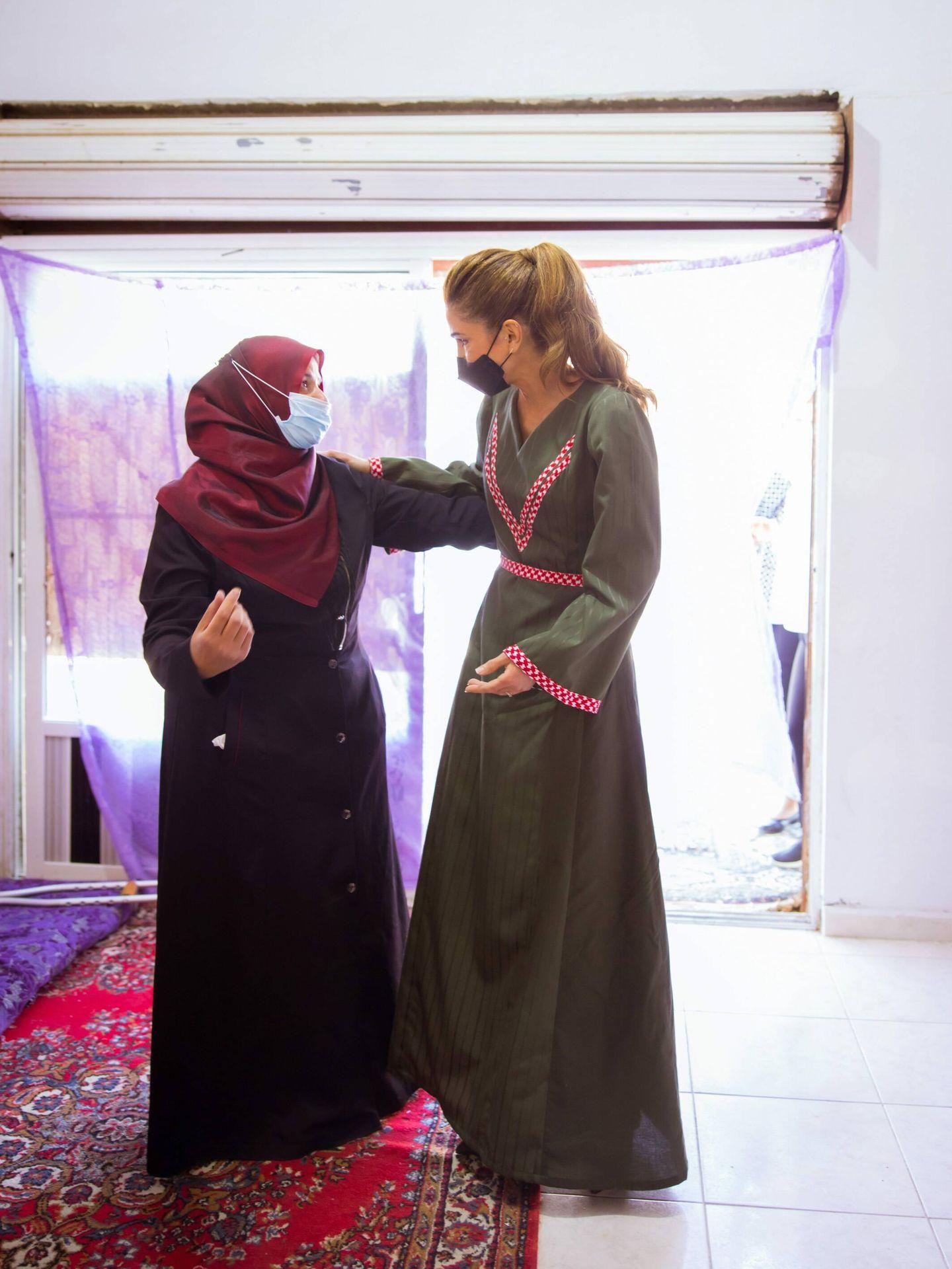 Rania de Jordania, en Shobak este miércoles. (Cordon Press)