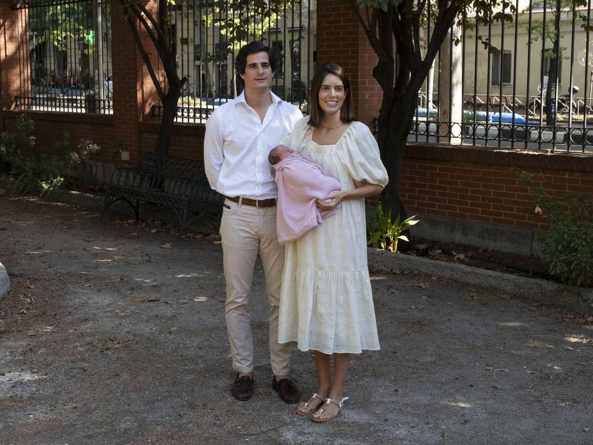 Foto: Los duques de Huéscar presentan a su hija. (Getty)