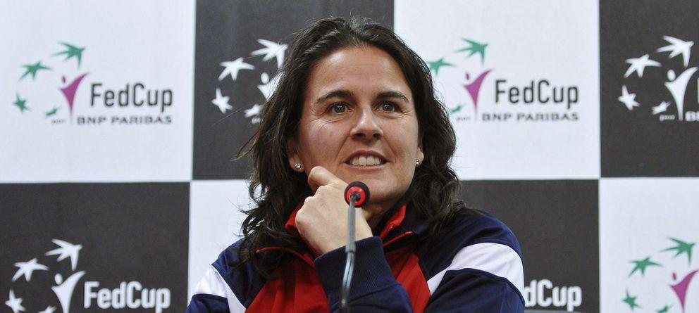 Foto: Conchita Martínez, durante una rueda de prensa (EFE)