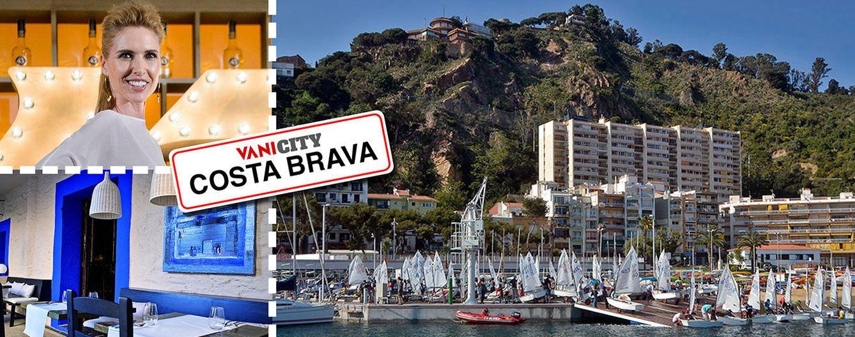 Foto: Judit Mascó junto a imágenes de la Costa Brava en un fotomontaje realizado en 'Vanitatis'