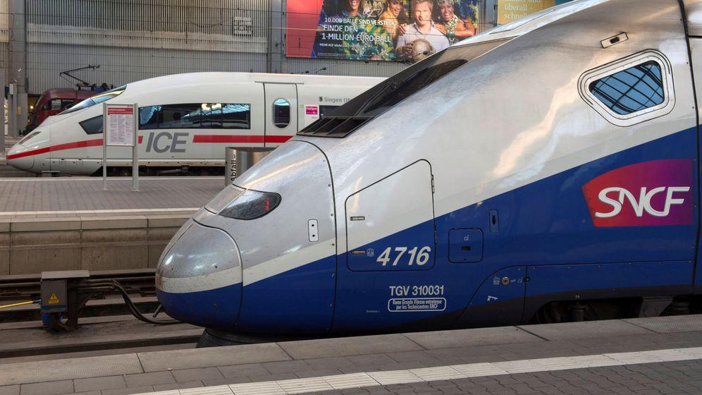 Foto: Trenes de Alstom y Siemens en la estación de Múnich (Reuters)