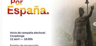 """Post de Vox y la Reconquista en las elecciones: """"Don Pelayo era un tío con dos huevos"""""""