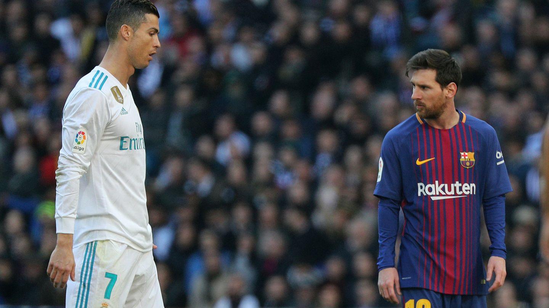 Cristiano Ronaldo y Lionel Messi. (Reuters)
