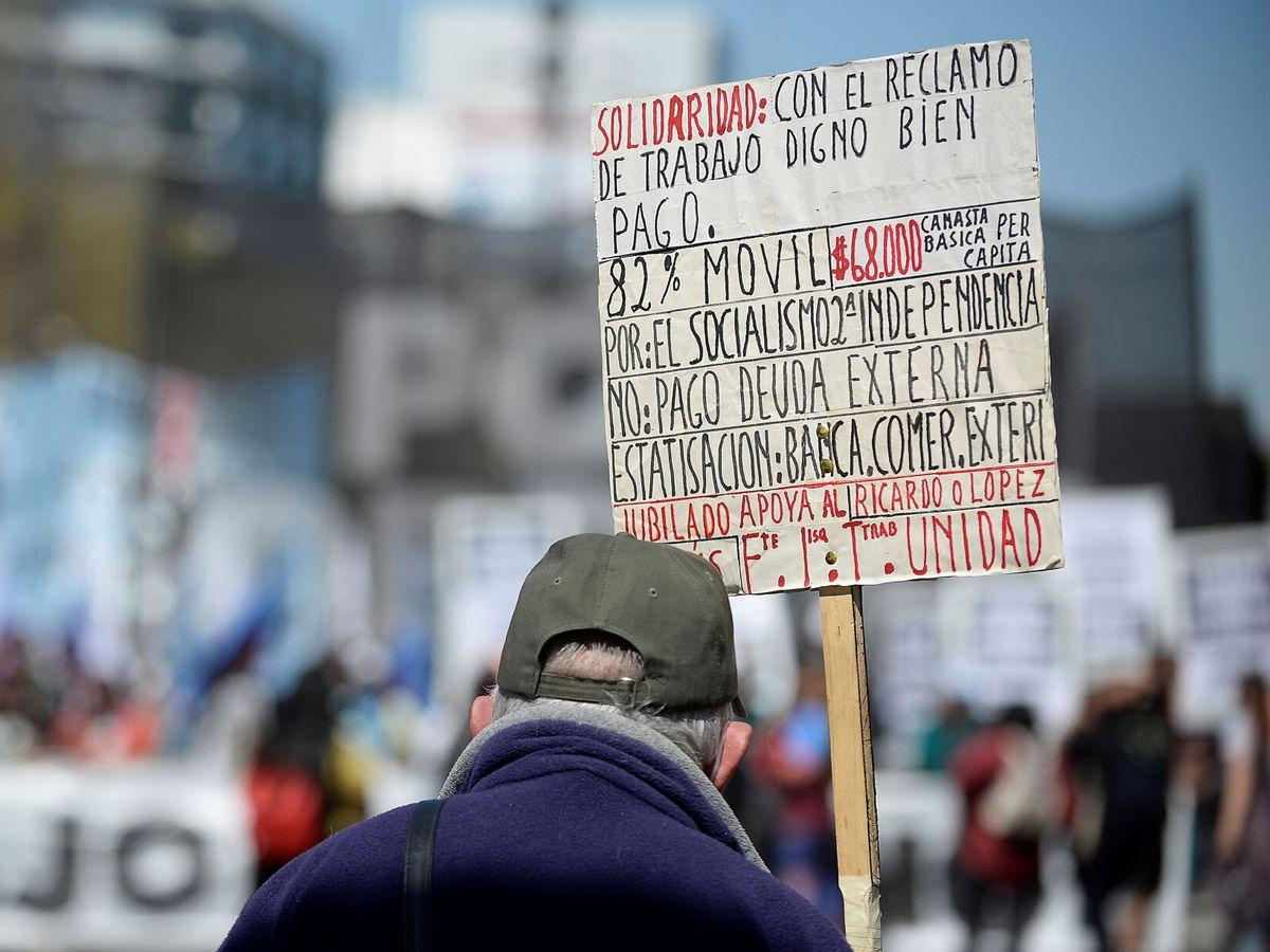 Foto: Una protesta en Argentina. (Reuters)