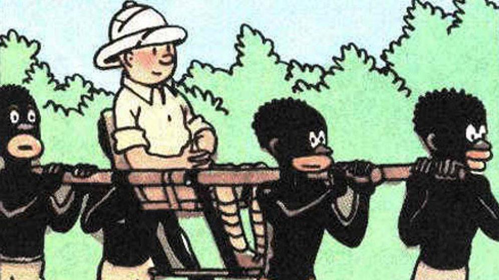 Foto: 'Tintín en el Congo' llegó a los tribunales a petición de un ciudadano que aseguró que era una apología del racismo.