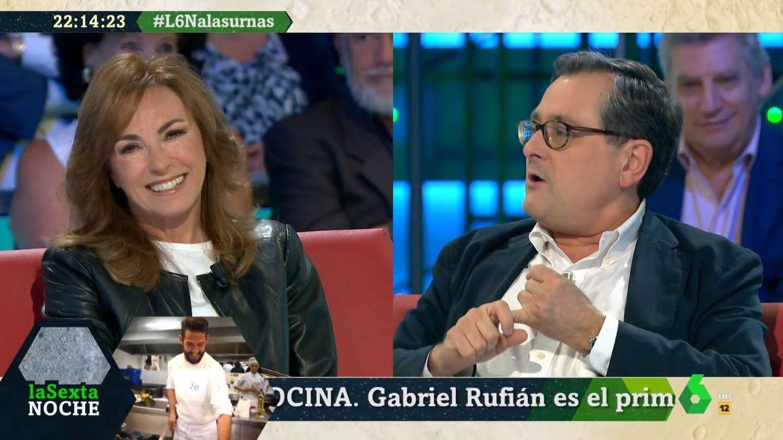 Angélica Rubio y Marhuenda, en 'La Sexta noche'. (Atresmedia).
