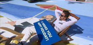 Post de Fernando Alonso tirado en la hamaca, ¿