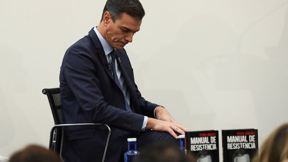 Foto: El presidente del Gobierno, Pedro Sánchez, durante la presentación de su libro. (EFE)