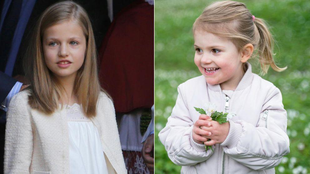 La princesa de Asturias y Estelle de Suecia, cara y cruz de la moneda